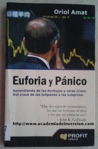 "Book cover ""Euforia y Pánico"" by Oriol Amat"