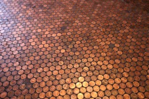 Soil with pennies