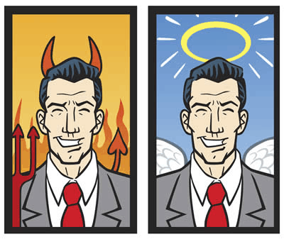 Halo effect and devil effect