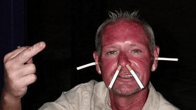 Paul Gascoigne drunk and broke
