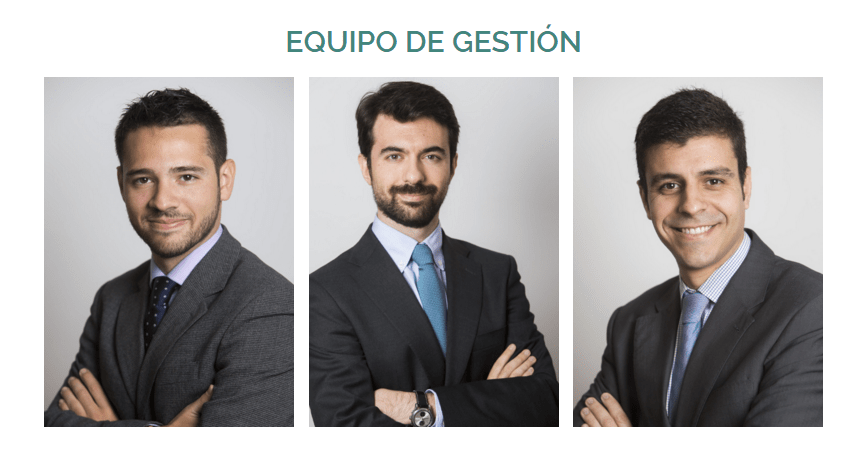 Alejandro Martín Toledo, Javier Ruiz and Miguel Rodríguez Quesada, the Metagestión team